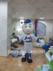 2014 free shipping Mr Met mascot costume baseball