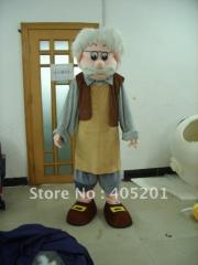 The papa Pinocchio costume cartoon mascot costume