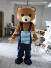 Blue pant teddy bear mascot costumes