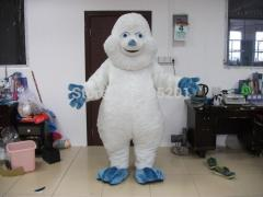 Top quality white fur monkey mascot costumes