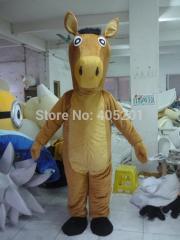 Brown horse mascot costume character wild animal