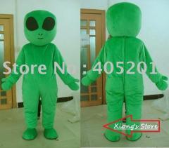 Green alien mascot costumes character cartoon