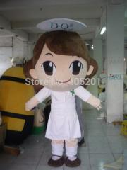 Huge head nurse mascot costumes cute girl costumes