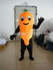 Orange carrot mascot costume vegetable costumes