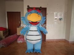 POLYFOAM high quality costume big blue dragon