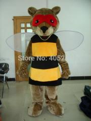 Hot sale fox mascot costume bee disguise