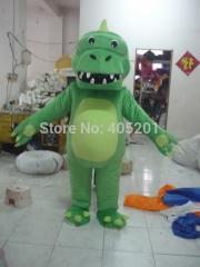 3D open mouth alligator mascot costume dinosaur