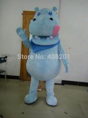 Big mouth cute hippo mascot costumes