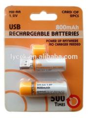 1.2V 800mAh rechargeable usb battery for Apple