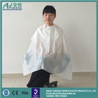 Disposable hair cutting cape with great price