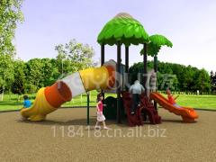 China offer outdoor playground plastic slide for