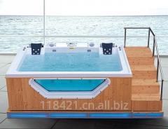 Guangzhou Outdoor Freestanding Wooden Family Spa Bathtub K-8980A