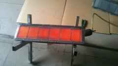 Infrared gas burner for powder curing, drying