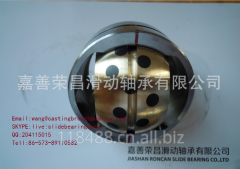 Oilless spherical plain bushing