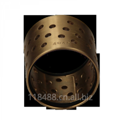 Bronze self-lubricating bearing with through holes