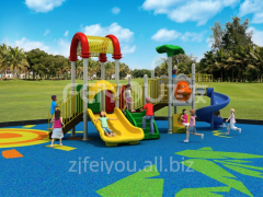 Classic outdoor playground plastic slide for kids