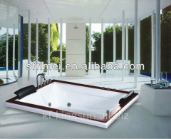 2 Person Rectangle Outdoor Spa Massage Bathtub For