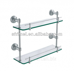Double Deck Glass Platform with Stainless Steel