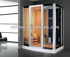 Modern Style Corner Freestanding Shower and Sauna