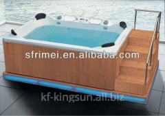 Outdoor Whirlpool Sex Massage Spa Wood Fired Hot