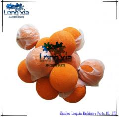 Cleaning sponge balls for concrete pump delivery