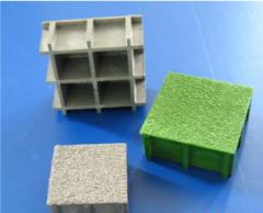 Решетчатые настилы из стеклопластика (Поверхность с покрытием кварцевым песком)