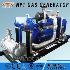Methane gas powered generator set with CHP