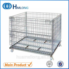 W-1 Warehouse stackable metal storage wire container