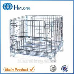 F-1 Mesh container  Warehouse storage steel mesh cage for wine industry