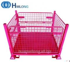 F-4 Wire mesh container Industrial stacking storage steel pallet container