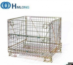 F-10 Steel wire mesh  foldable metal storage cage for wine storage