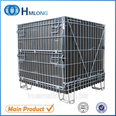 F-14 Galvanized stackable foldable metal cage pallet