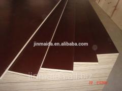 Supply 18mm black film faced waterproof plywood