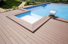 Swimming pool wpc composite decking board 150x25mm