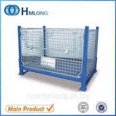 BEM Warehouse storage foldable wire mesh metal pallet stillage  auto