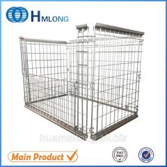 NF-1 Galvanized stackable storage wire steel mesh pallet cage