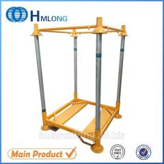 M-6 Warehouse stack foldable steel post pallet for big bag PET preform