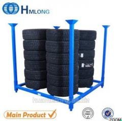 HML6060 warehouse heavy duty stacking metal tire rac