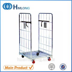 BY-07 foldable cargo rolling warehouse storage metal roll container