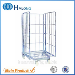 BY-08 Warehouse collapsible storage rolling pallet cage