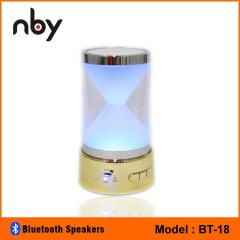 Wireless portable bluetooth speakers with led