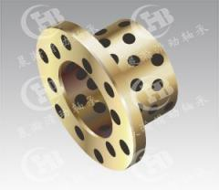 CHB-JDBB Oilless Flange Bronze Bushing Self-lubricating with Graphite insert