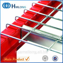 Inverted U channel steel wire mesh decking for pallet racking
