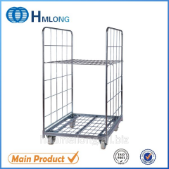 BY-07 Zinc plated storage wire mesh roll cages