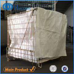 F-22 China stackable steel mesh euro cage pallet pet preform