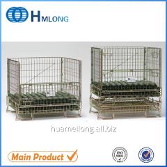 F-5 Poweder coating metal mesh folding cage pallets