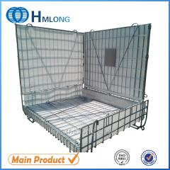 F-28 PET Preform Warehouse steel pallet wire mesh container