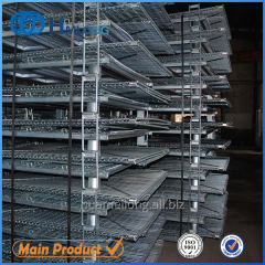 W-10 Stacking storage wire mesh foldable cage pallets