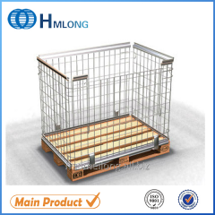 NF-1 High quality warehouse stackable metal cage pallets