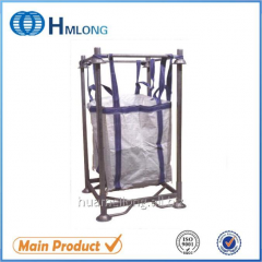M-6 Big bag support warehouse storage steel foldable stacking pallet with posts for big bag  PET preform